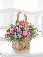 Scented Pink and Lilac Basket