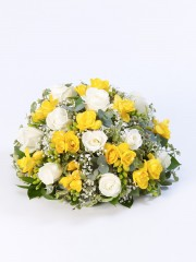 Rose and Freesia Posy - Yellow & White