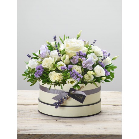 Lovely Lilacs New Baby Hatbox
